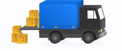 Truck with boxes to portray fulfillment system