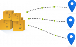 Boxes representing Order Management in a unified commerce management solution