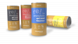 cans in which recommerce group phones are transported