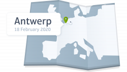 A map of Antwerp in Belgium