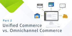 text: unified commerce vs. omnichannel commerce