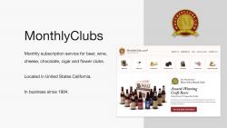 Screenshot MonthlyClubs webiste
