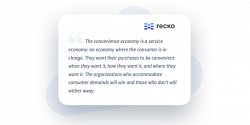 Quote by Recko about the convenience economy
