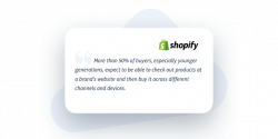 quote about omnichannel and customer expectations by shopify